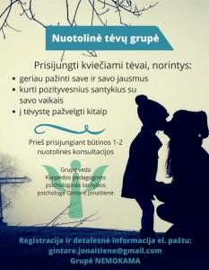 informacija tėvams 2021-01-19